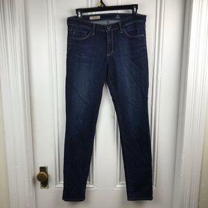 AG dark wash stilt cigarette jeans skinny mid rise